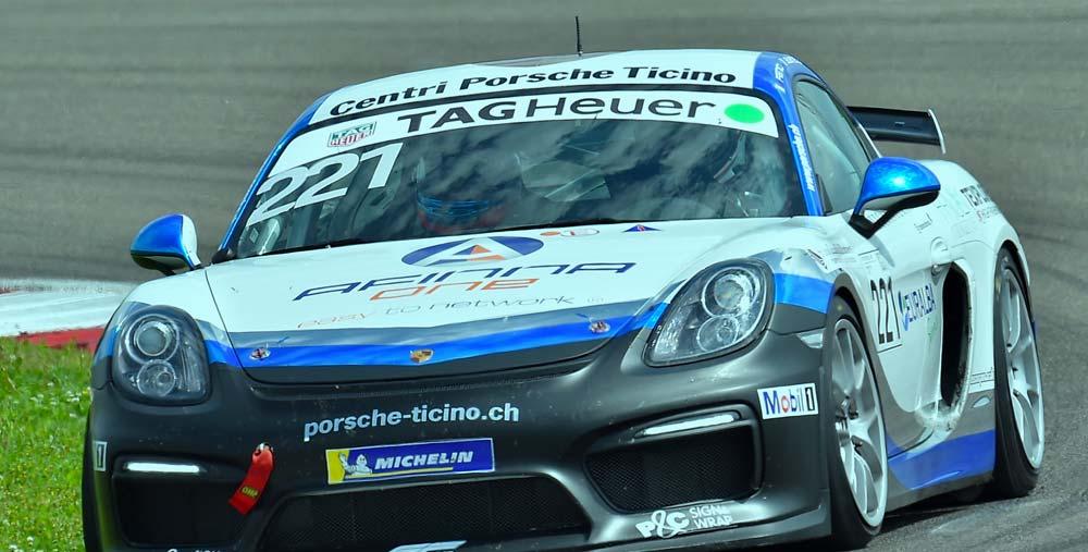 Partner of Club Porsche Italia, Afinna One sponsored Francesco Fenici during the Motosport